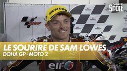 Le sourire de Sam Lowes : Grand Prix de Doha