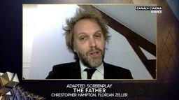 BAFTA 2021 : Florian Zeller et Christopher Hampton reçoivent le prix de la meilleure adaptation