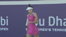 Kudermetova - Kostyuk: skrót półfinału WTA 500 w Abu Dhabi