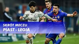 Skrót meczu Piast - Legia