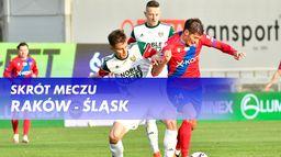 Skrót meczu Raków - Śląsk