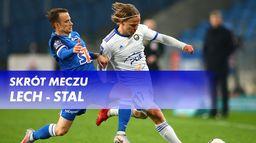 Skrót meczu Lech - Stal