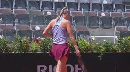 Skrót meczu Magda Linette - Petra Kvitova