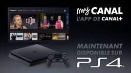 myCANAL est disponible dès maintenant sur PlayStation®4