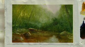 Les cours d'eau des zones boisées chez les peintres de la Hudson River