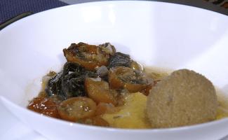 Matembele Croquettes et Purée de Patates Douces