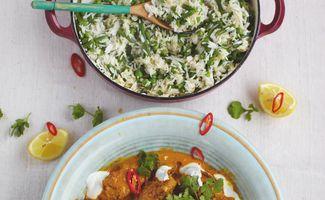 Curry aux Keftas avec un Riz à la Cardamone