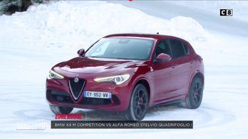 Zone rouge : BMW X4M vs Alfa Romeo Stelvio Quadrifoglio