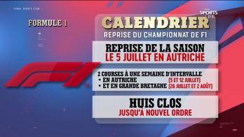 Des précisions sur la reprise du championnat de F1 : Canal Sports Club