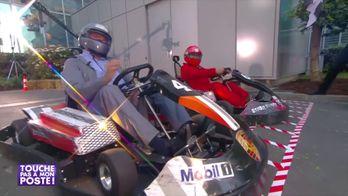 La folle course de karting entre Gérard Jugnot et Gérard Louvin dans TPMP