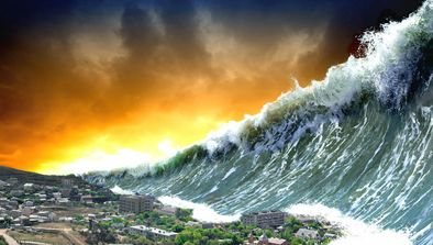 Tsunami sur la côte ouest