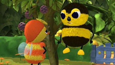 Mireille l'abeille : la plante géante