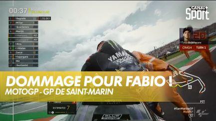 Fabio Quartararo chute en qualifications, Bagnaia partira en pole