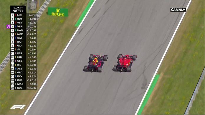 L'incroyable dépassement de Verstappen sur Vettel