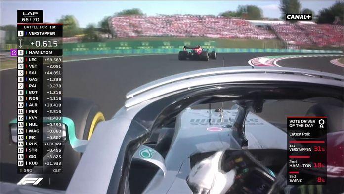Hamilton dépasse Verstappen au 66ème tour