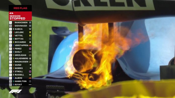 Le moteur de Kubica fait flamber sa monoplace