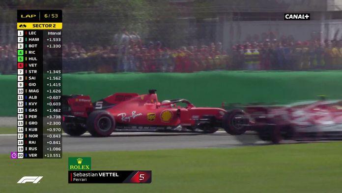 Sortie de piste de Vettel
