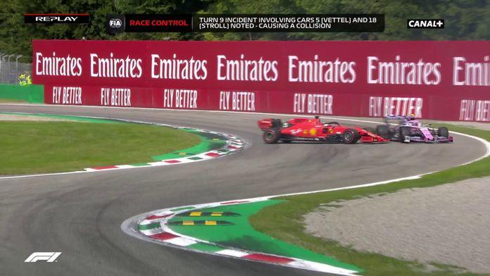 Le replay de l'accident de Sebastian Vettel