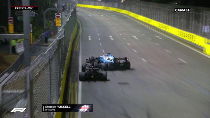 Russell percute Grosjean