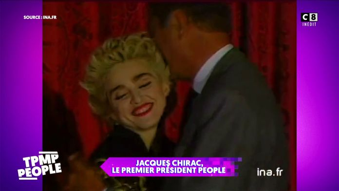 Jacques Chirac : l'ami des people : Dalida, Madonna, Johnny Hallyday...