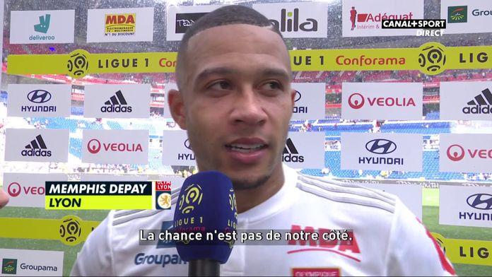 La réaction de Memphis après la défaite de l'OL face à Nantes