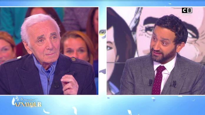 Quand Cyril Hanouna recevait Charles Aznavour à TPMP