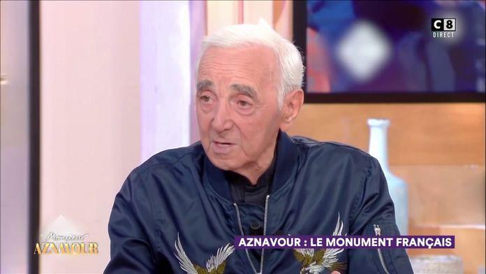 """La dernière apparition télé de Charles Aznavour à """"C à vous"""""""