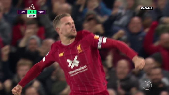L'égalisation du capitaine Henderson contre Tottenham