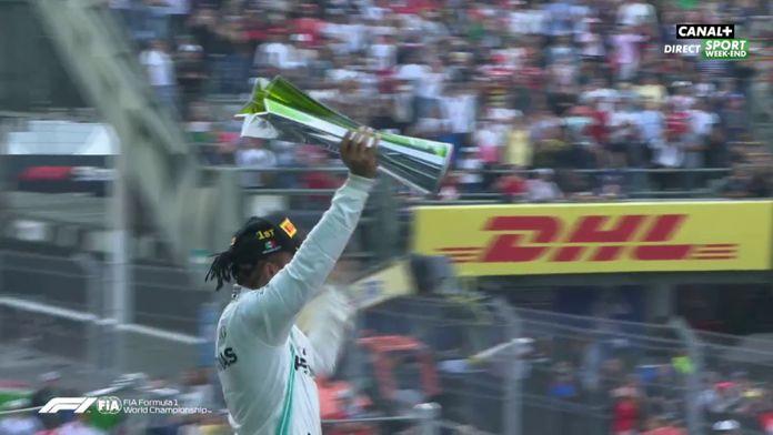 Le podium de Lewis Hamilton