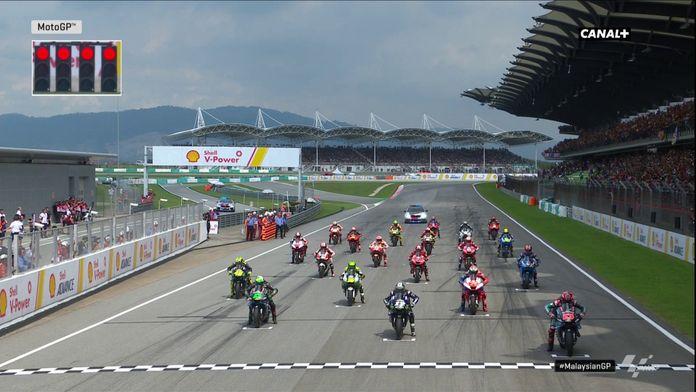 Le départ du Grand Prix : Quartararo se loupe, Marquez en feu !