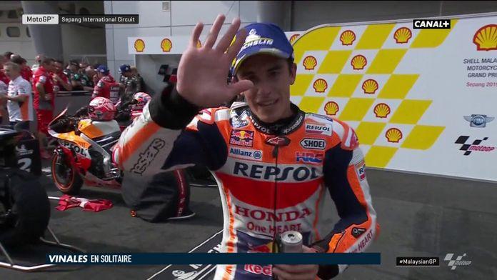 Pour une fois, Marquez se satisfait d'une deuxième place