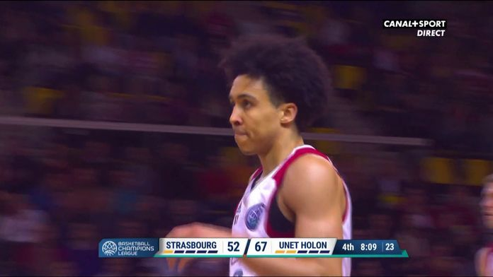 Le 3 points contesté de Travis Trice (Strasbourg)