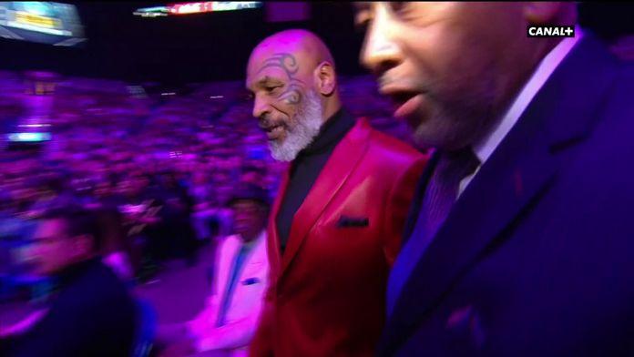 Mike Tyson est présent pour le combat