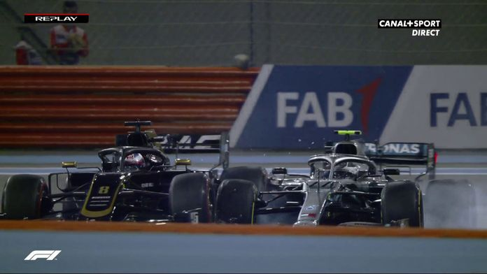 Accrochage entre Bottas et Grosjean en pleine séance d'essais libres