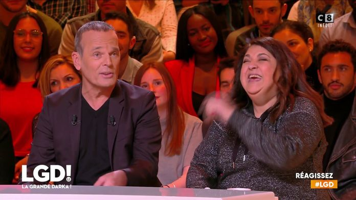 Nassima et son rire incroyable vient faire une surprise à Laurent Baffie
