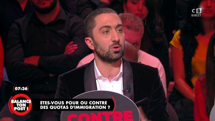 Jimmy Mohamed donne son point de vue sur les quotas d'immigration