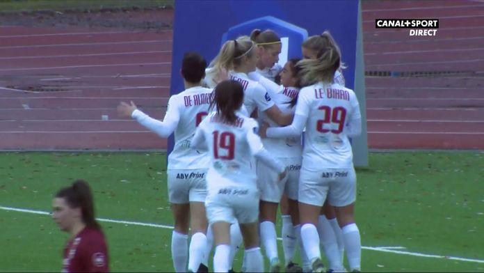 L'ouverture du score d'Anouk Dekker (Montpellier)