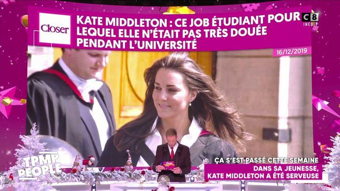 Le récapitulatif people de la semaine du 16 décembre : Kate Middleton a été serveuse dans le passé