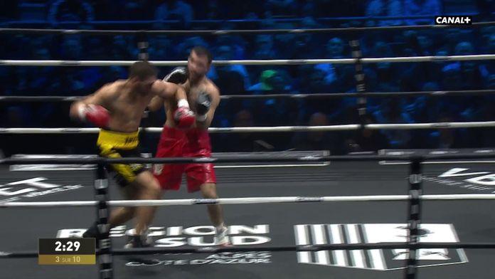Ahmed El Mousaoui en difficulté au 3e round