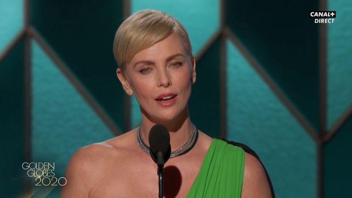 """Charlize Theron : """"Tom Hanks m'a donné un de mes premiers rôle"""" - Golden Globes 2020"""