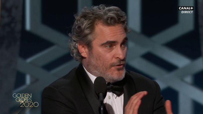 """Joaquin Phoenix: """"C'est super de voter mais il faut prendre ses responsabilités - Golden Globes 2020"""