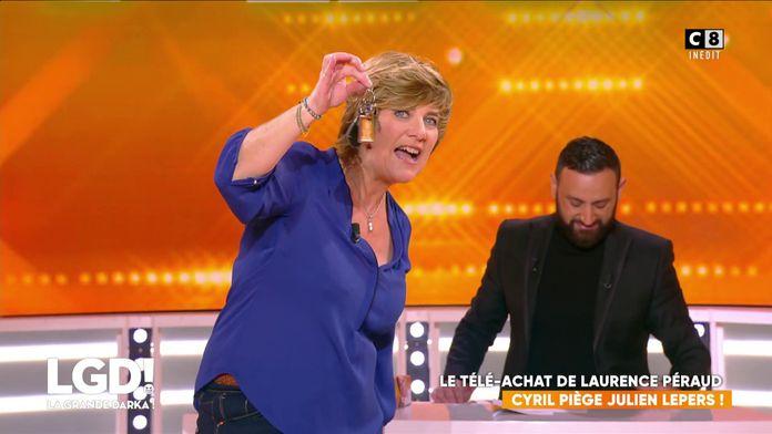 Le télé-achat de Laurence Péraud : Cyril Hanouna piège Julien Lepers en vendant sa voiture !