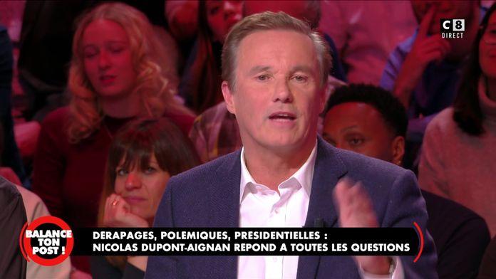 Nicolas Dupont-Aignan revient sur sa décision de s'allier au Front National lors des élections