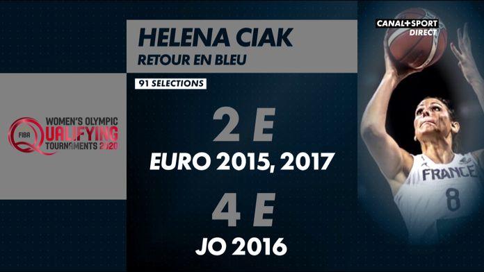 Helena Ciak évoque son retour en bleu : TQO Femmes 2020