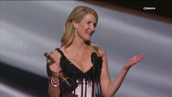 Laura Dern remporte l'Oscar de la Meilleure Actrice dans un second rôle - Oscars 2020