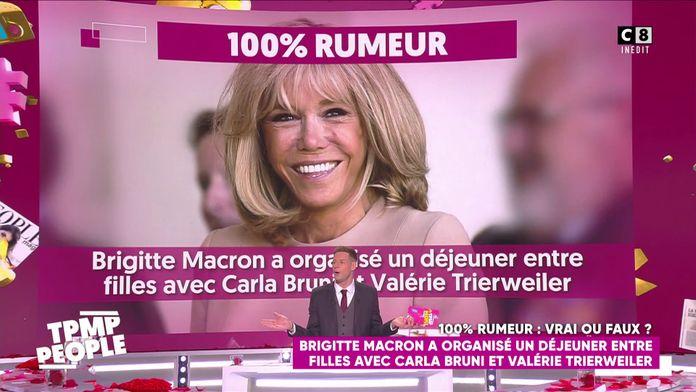 Brigitte Macron a organisé un déjeuner avec Carla Bruni et Valérie Trierweiler