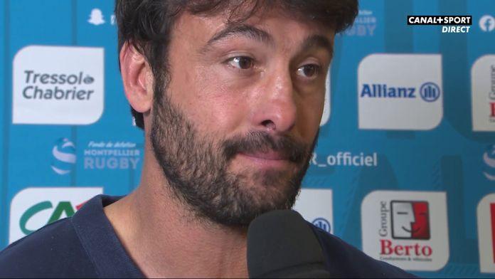 Xavier Garbajosa après Montpellier / Bayonne : Top 14 - 15ème journée