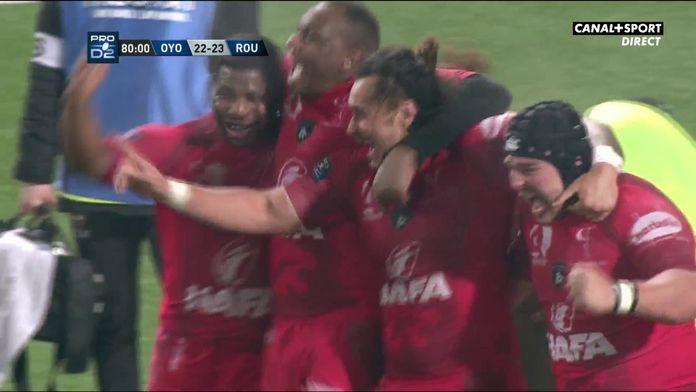 Le résumé d'Oyonnax / Rouen : Pro D2 - 20e journée
