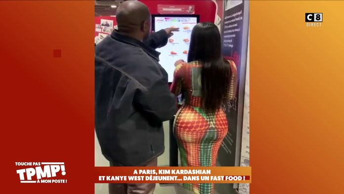 Kim Kardashian et Kanye West repérés dans un fast-food parisien !