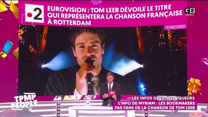 Les bookmakers pas convaincus par la chanson de Tom Leeb qui représentera la France à l'Eurovision